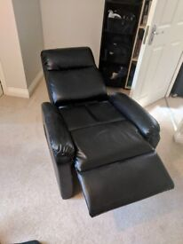 Reclinable Black Armchair - Good Condition