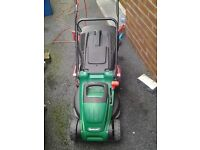 QUALCAST MEB1640M 1600W 40CM ELICTRIC LAWNMOWER .... ONLY USED FOR 1 SEASON