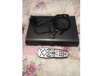 SKY PLUS ANYTIME 3D 1TB SKY BOX WITH REMOTE CONTROL HDMI CABLE AND POWER CABLE