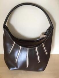 Brown/cream small handbag