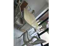 Like brand new, luxury marble effect dining table - extendable and is in excellent condition