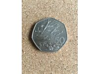 Circulated D-Day landings 50p coin (Large)