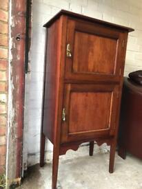 Antique mahogany record music cabinet