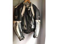 mens leather bike jacket buffalo 42 inch chest