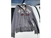 Hollister grey hoody jacket small