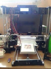 ANET 8 3D PRINTER WITH EXTRA BOARD AND SPARE PARTS