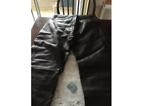 Leather jeans (brown) size 16