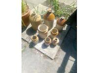 Vintage stone jars