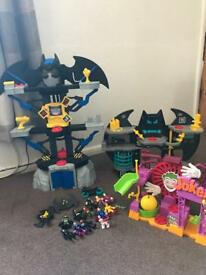 Batman Imaginext by Fisher price playset Bundle
