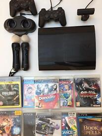 PLAYSTATION 3 CECH-4003c +motion controller and GAMES - B.O.