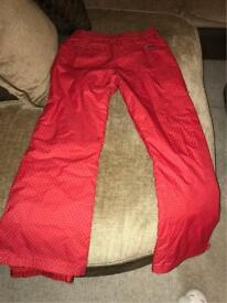 Roxy Ladies Ski trouser Size M/10