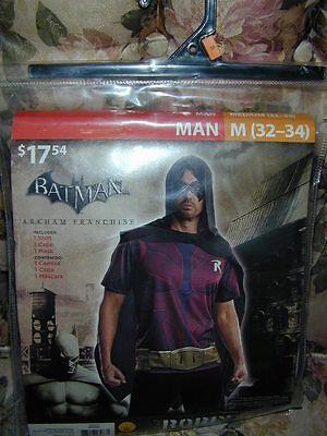 Robin From Batman Costume (HALLOWEEN COSTUME: Robin from Batman Arkham Man L Shirt Mask Cape Cosplay)