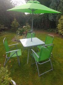 Garden Patio set with parasol