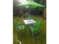 Garden Patio set with parasol
