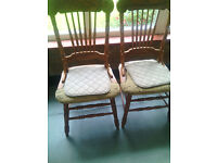 Old style four chairs in in gd condition £15