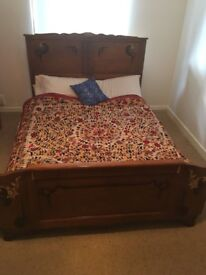 Antique Solid Wood Double Bed