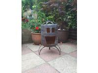 Out door fire pit wood burner garden heater