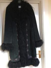 Oasis suede long length coat.