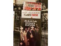 Oceans Eleven, twelve & thirteen dvds