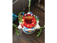 Fisherprice rainforest jumperoo and kick and learn gym