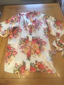 4 brand new floral dressing robes for wedding morning