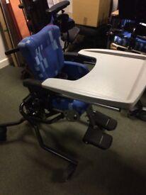 Leckey High Chair on Hydraulic Base - Child's Size 1