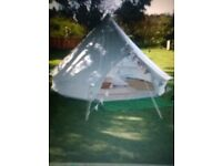 cream 4m bell tent for sale , great condition and very well looked after £288.00
