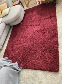 Dunelm Red rug - 160cm x 230cm