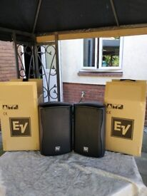 EV Speakers ZX1-90W 8 Inch Passive Speaker (Pair) Excellent Condition