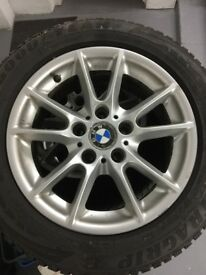 4 Winter Tyres with Wheels for BMW