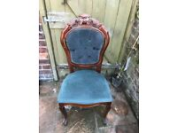 French style ornate dining chairs perfect upcycle/reupholster project!! 6 Chairs 2 Carvers..£30 each