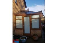 Ex condition wood effect UPVC conservatory
