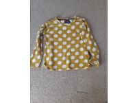 Long sleeved yellow spotty tshirt