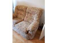 FREE Good quality fabric sofa and side table