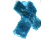 Blue stole scarf