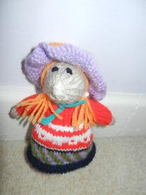 New Hand Knitted Hippy Girl Hamster