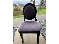 Purple suede chair