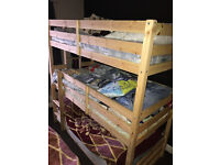 Triple Decker Bunk Bed 3FT Heavy Duty with Two Matresses - Barely used