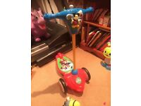 Great condition monkey mouse musical scooter