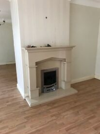 Real stone fire surround