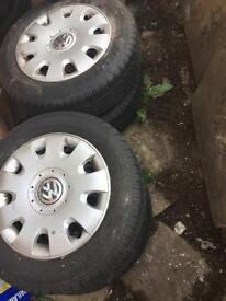 Volkswagen wheels and tyres