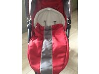 Petite Star Zia buggy / pram / pushchair / stroller - 3 Wheeler with footmuff, raincover and basket