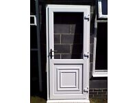 White PVCu External Door