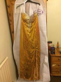 Prom dress gold (open to offers)