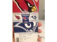 2 tickets for NFL Twickenham 22nd October, LA Rams vs Arizona Cardinals