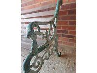 Antique iron cast bench