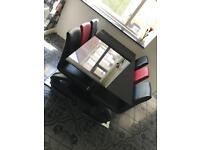 Black Gloss Glass Dining Table with 6 chairs