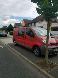 Vauxhall vivaro crew van cab
