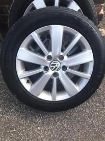 16inch genuine Volkswagen alloys, 4 new tires £250 ONO!!.