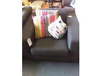 A modern comfy single brown chair